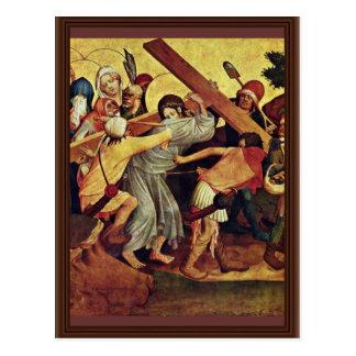 Fragmento del altar de Thomas de la escena izquier Postal
