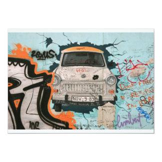 Fragmento del muro de Berlín Invitación 12,7 X 17,8 Cm