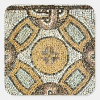 Fragmento del piso de los baños romanos pegatina cuadrada