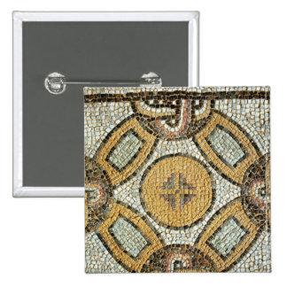 Fragmento del piso de los baños romanos pin cuadrado