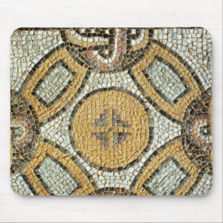 Fragmento del piso de los baños romanos tapete de raton