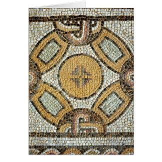 Fragmento del piso de los baños romanos tarjeta de felicitación