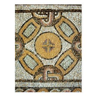 Fragmento del piso de los baños romanos tarjetas postales