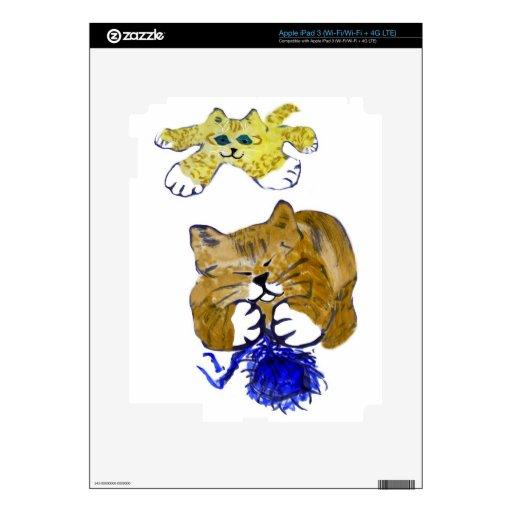 Fragmento dinámico del dúo el hilado azul iPad 3 pegatinas skins