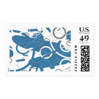 Fragmento - franqueo abstracto del diseño sellos postales