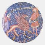 Fragmento suizo de la tapicería de Schweizer Pegatina Redonda