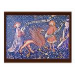 Fragmento suizo de la tapicería de Schweizer Tapis Postales