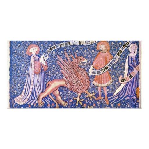 Fragmento suizo de la tapicería de Schweizer Tarjeta Personal Con Foto