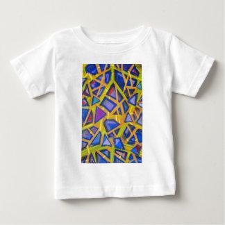 Fragmentos azules en colores pastel del espejo t-shirt