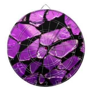 Fragmentos de cristal púrpuras