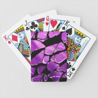 Fragmentos de cristal púrpuras baraja de cartas bicycle
