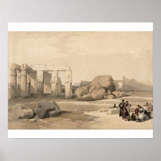 Fragmentos del gran coloso en el Memnonium, Póster