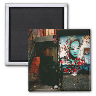 Fragmentos urbanos - arte de la calle - New York C Imán Cuadrado