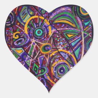 Fragments Heart Sticker