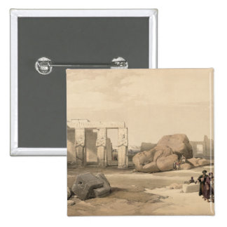 Fragments of the Great Colossus at The Memnonium, 2 Inch Square Button