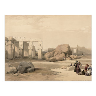 Fragments of the Great Colossus at The Memnonium, Postcard