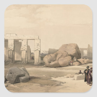 Fragments of the Great Colossus at The Memnonium, Square Sticker