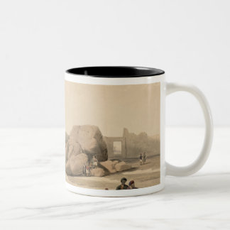 Fragments of the Great Colossus at The Memnonium, Two-Tone Coffee Mug