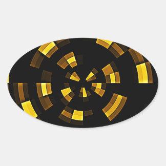 Fragments Oval Sticker