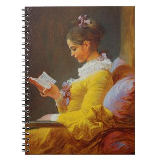 """Fragonard """"A Young Girl Reading (The Reader)"""" Notebook"""