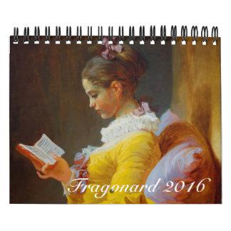 Fragonard Small 2016 Calendar