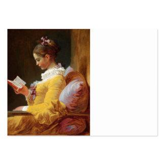 Fragonard, _The_Reader2382-2975half.jpg Tarjetas De Visita Grandes