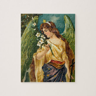 Fragrance - Angel with green wings. Jigsaw Puzzle