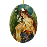 Fragrance - Angel with green wings. Ornament
