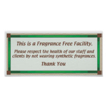 Fragrance Free Facility Sign