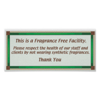 Fragrance Free Facility Sign Poster