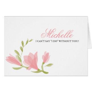 Fragrant Freesia Petals | Be My Bridesmaid Card