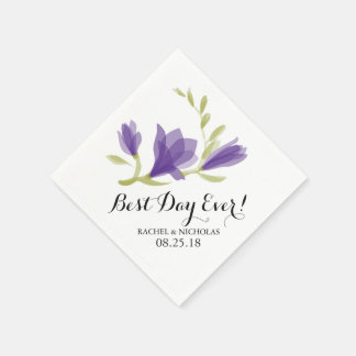 Fragrant Freesia Petals | Best Day Ever! Paper Napkin