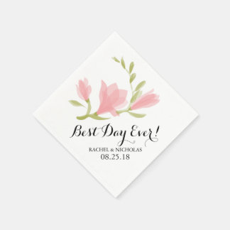 Fragrant Freesia Petals   Best Day Ever! Paper Napkin