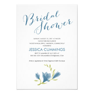 Fragrant Freesia Petals | Bridal Shower 5x7 Paper Invitation Card