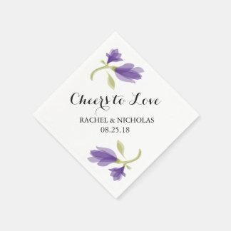 Fragrant Freesia Petals   Cheers to Love Paper Napkin