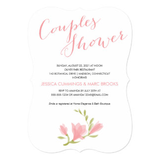 Fragrant Freesia Petals | Couples Shower 5x7 Paper Invitation Card