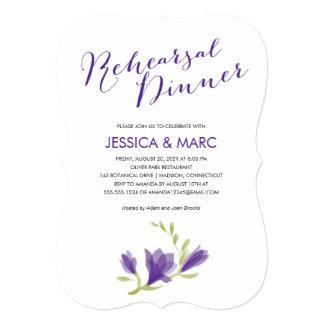 Fragrant Freesia Petals | Rehearsal Dinner 5x7 Paper Invitation Card