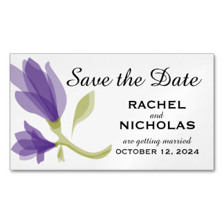 Fragrant Freesia Petals   Save the Date Business Card Magnet
