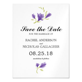 Fragrant Freesia Petals   Save the Date Magnetic Card