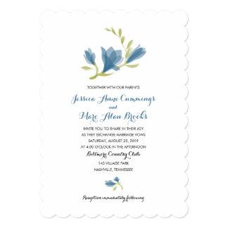 Fragrant Freesia Petals | Wedding 5x7 Paper Invitation Card
