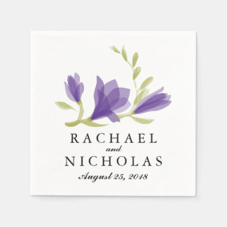 Fragrant Freesia Petals   Wedding Reception Napkin