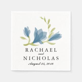 Fragrant Freesia Petals   Wedding Reception Paper Napkin