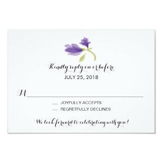 Fragrant Freesia Petals   Wedding RSVP Card