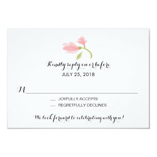 Fragrant Freesia Petals | Wedding RSVP 3.5x5 Paper Invitation Card