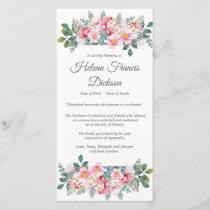 Fragrant Garden Funeral Thank You Card