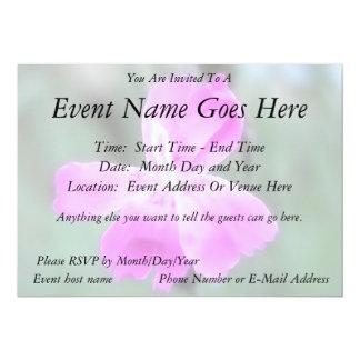 Fragrant Garden Pinks 5x7 Paper Invitation Card