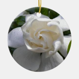 Fragrant Gardenias Ceramic Ornament