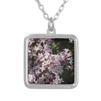Fragrant Lilac Silver Plated Necklace
