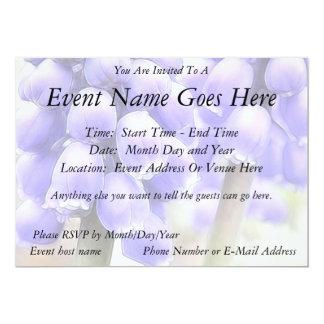 Fragrant Muscari Blooms 5x7 Paper Invitation Card