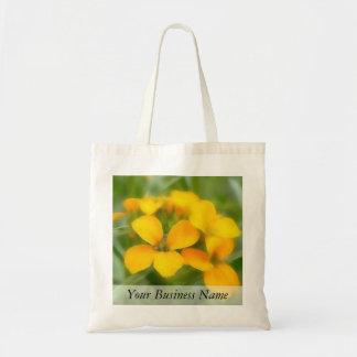 Fragrant Orange Cheiranthus Tote Bags